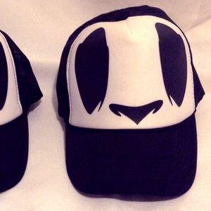 Panda Bear Trucker Snap Back Hat Halloween Costume